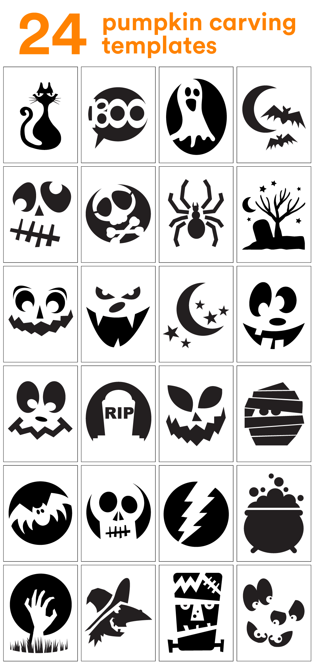 How To Carve The Coolest Pumpkin On The Block (Carving Stencils - Free Printable Pumpkin Faces
