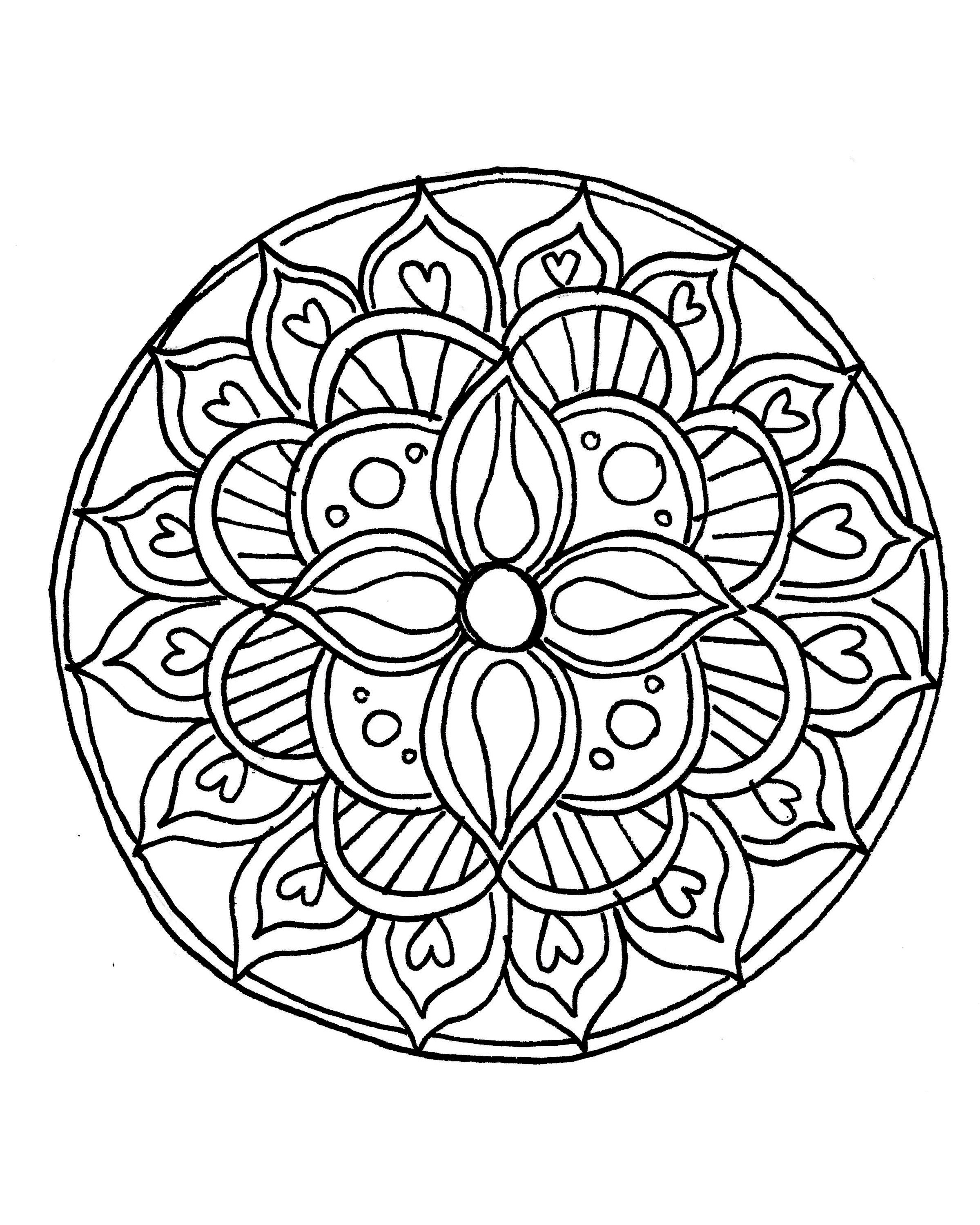 How To Draw A Mandala (With Free Coloring Pages!)   Drawings - Free Printable Mandala Patterns