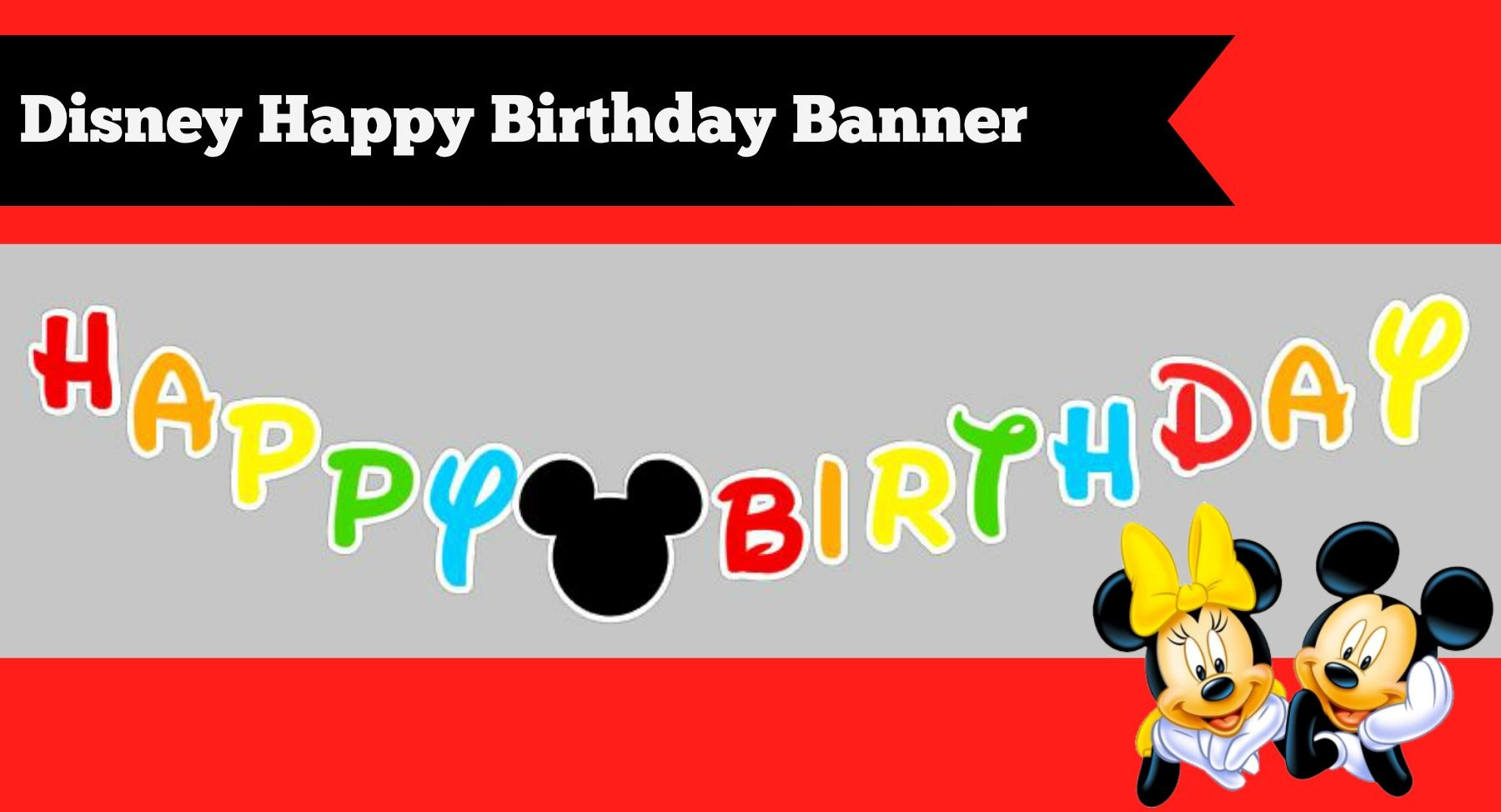 How To Make A Diy Mickey Mouse Clubhouse Inspired Happy Birthday - Free Printable Mickey Mouse Birthday Banner
