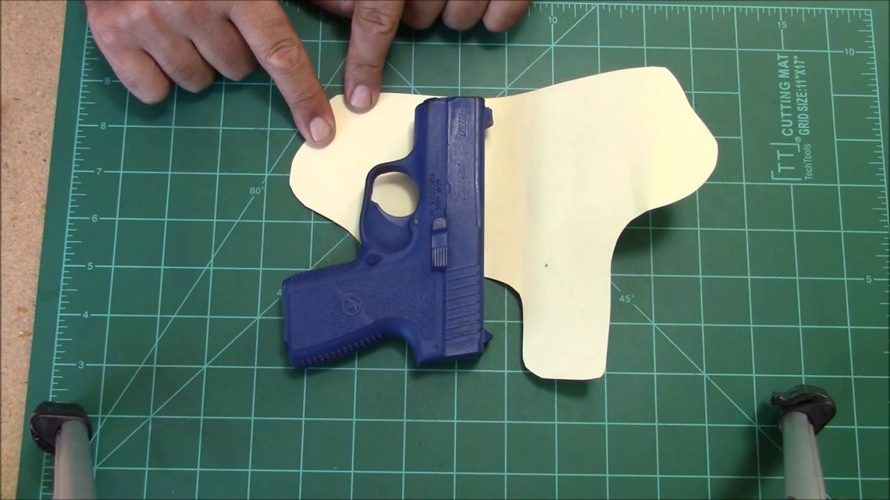 How To Make A Holster Pattern.. - Youtube - Free Printable Holster Patterns