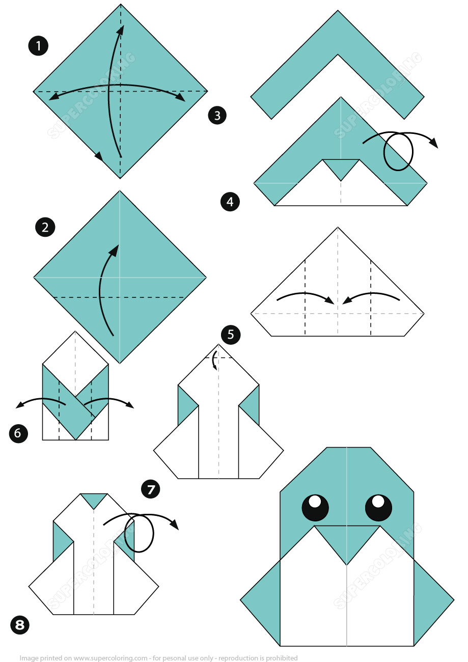 How To Make An Origami Penguin Instructions | Free Printable - Free Easy Origami Instructions Printable