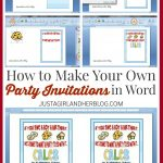 How To Make Your Own Party Invitations | Abby Lawson   Play Date Invitations Free Printable