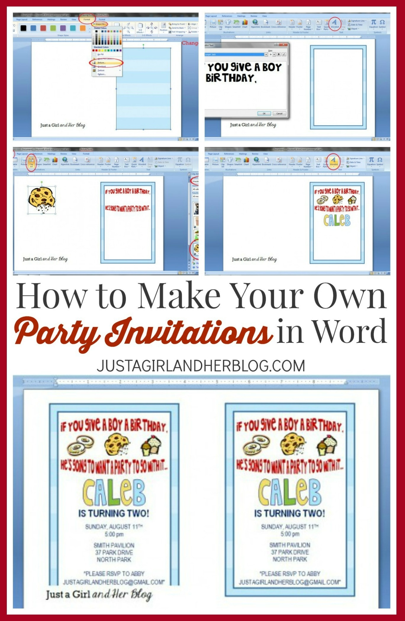 How To Make Your Own Party Invitations | Abby Lawson - Play Date Invitations Free Printable