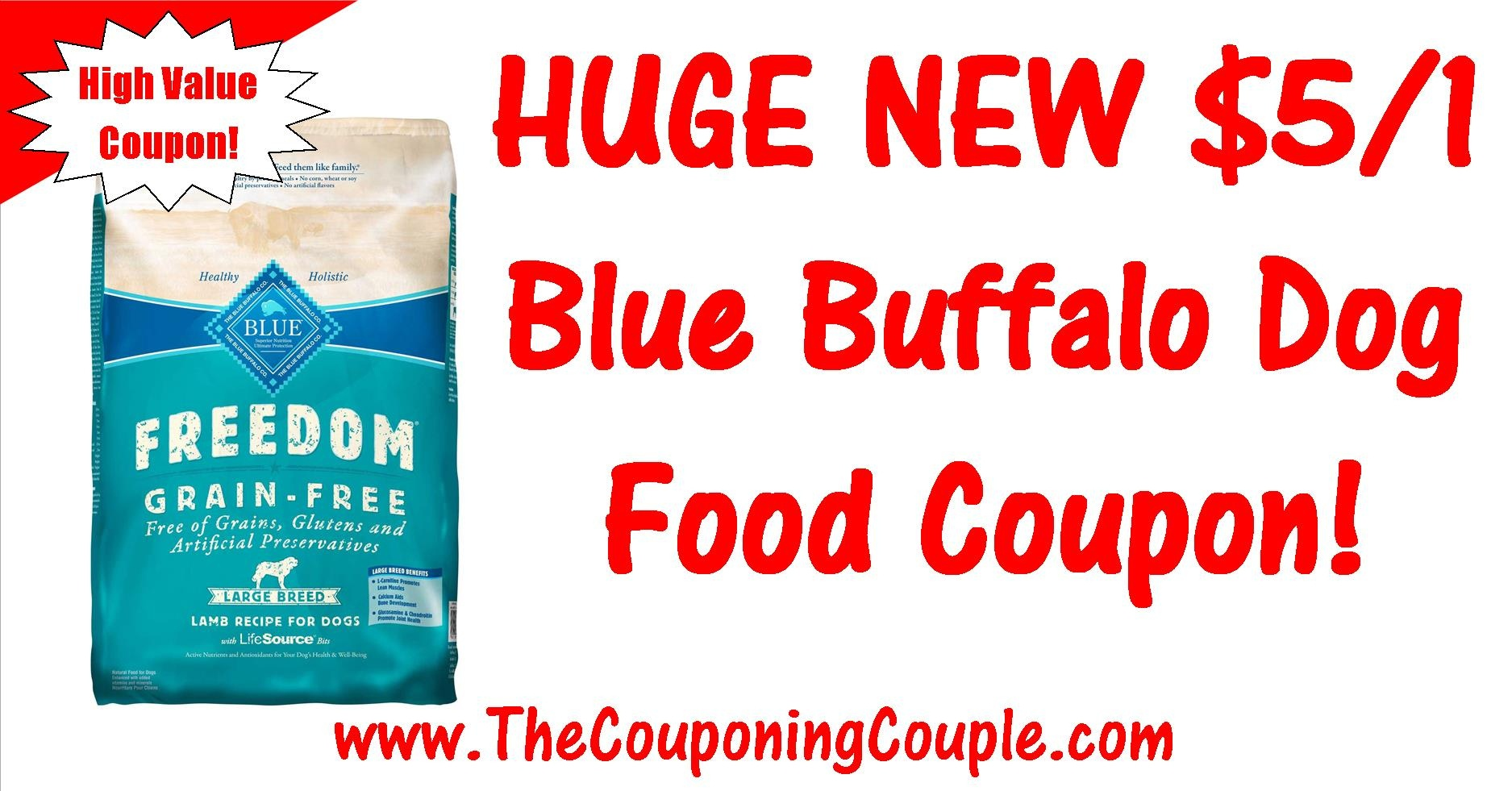 Huge Blue Buffalo Dog Food Printable Coupon ~ $5.00/1 Coupon! - Free High Value Printable Coupons