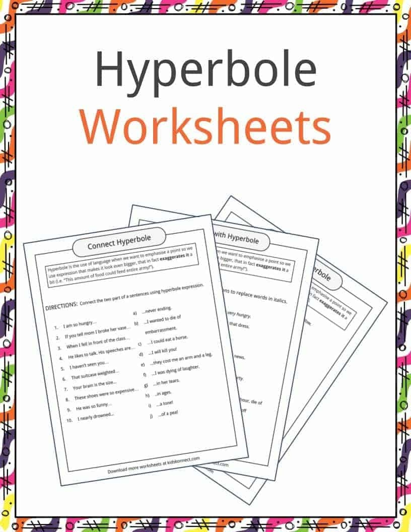 Hyperbole Examples, Definition & Worksheets | Kidskonnect - Indian In The Cupboard Free Printable Worksheets
