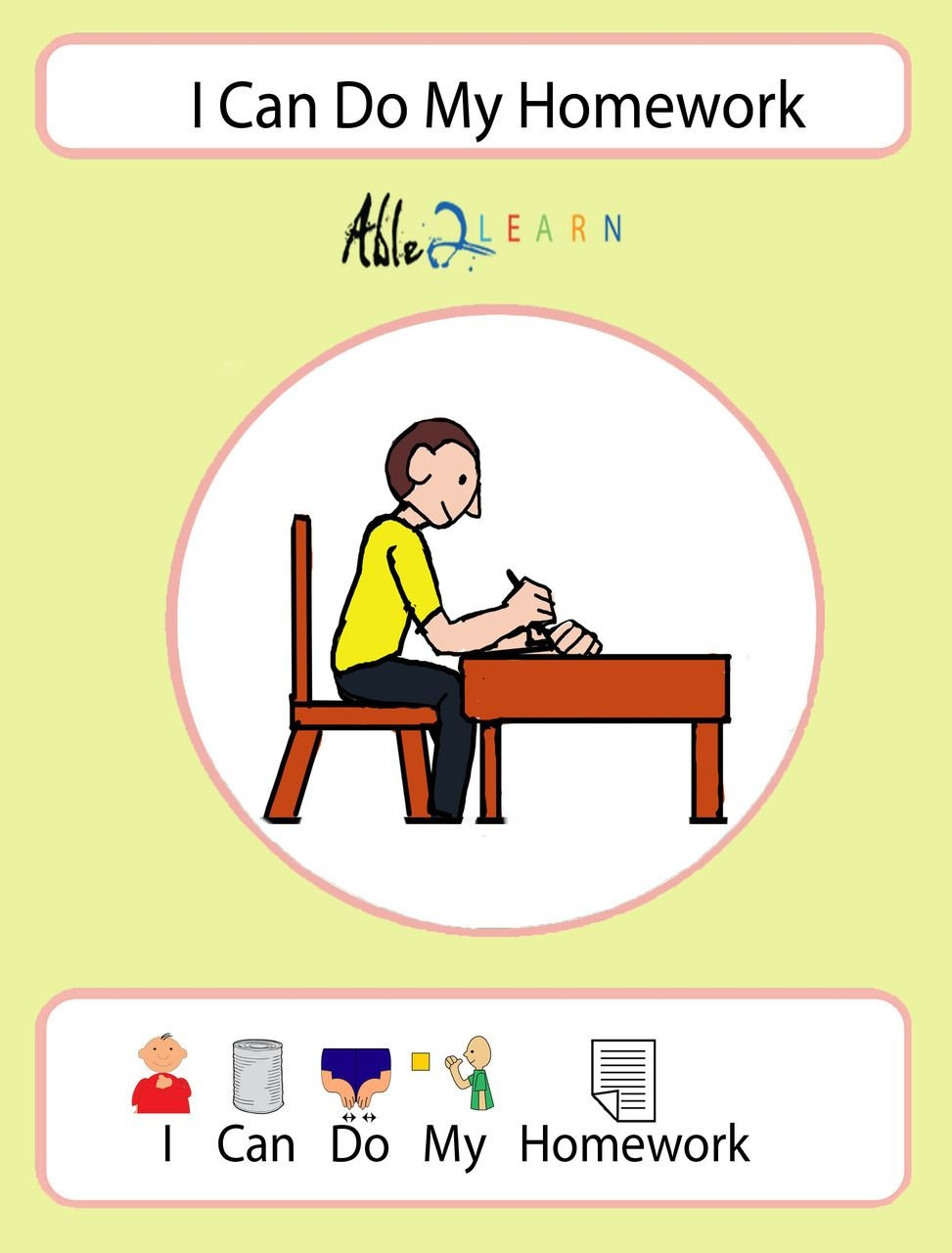 I Can Do My Homework Social Story: Pages 10   Icons   Social Stories - Free Printable Social Stories Worksheets