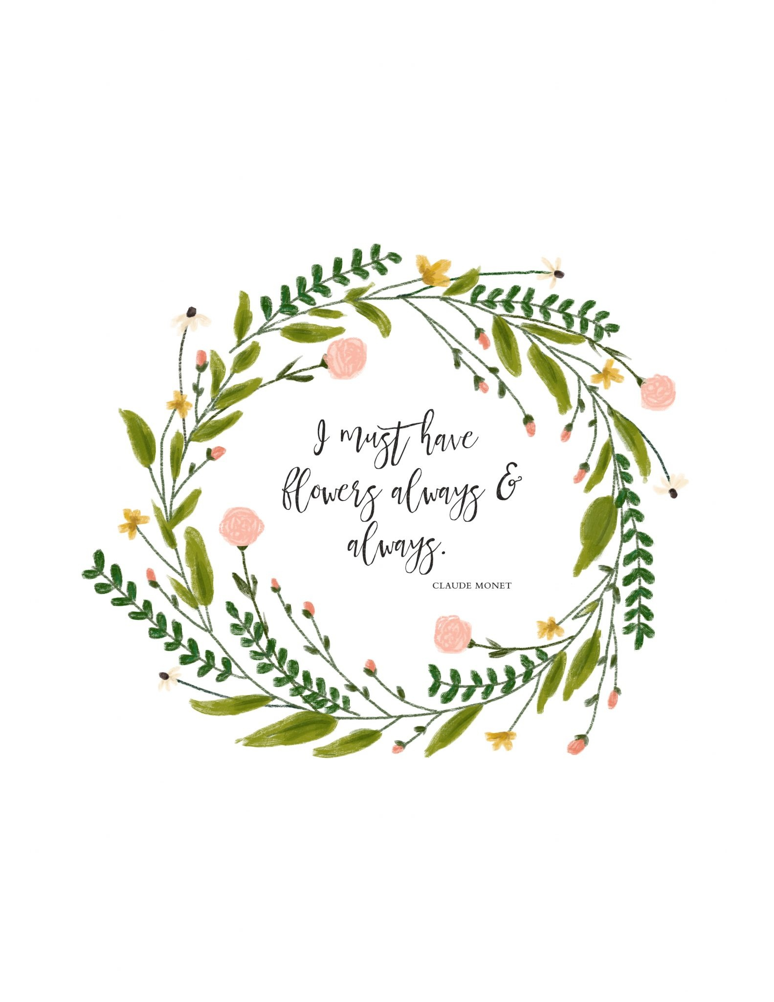 I Must Have Flowers | Free Spring Printable - A Burst Of Beautiful - Free Printable Spring Decorations