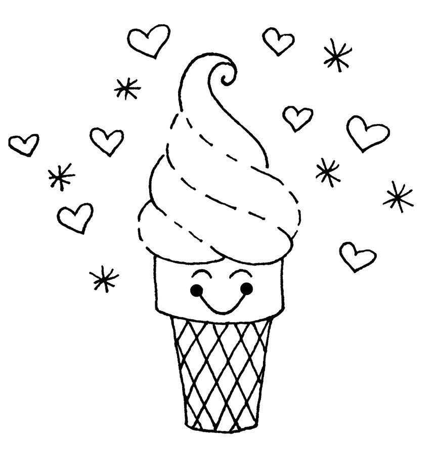 Ice Cream Coloring Sheets. . Online Printable. Ice Cream Coloring - Ice Cream Color Pages Printable Free