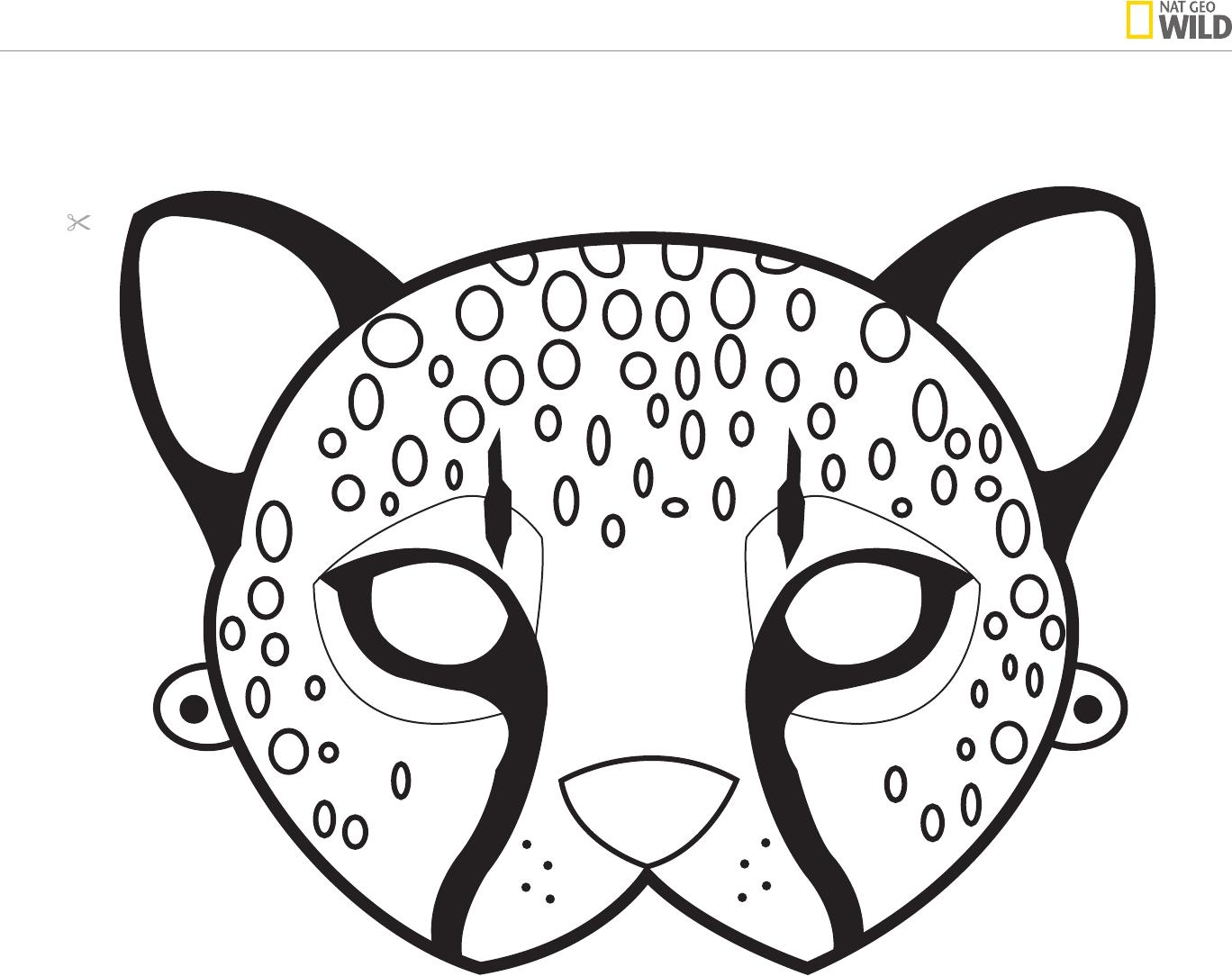 Ideas For A Natural African Safari Theme Party | Cheetah Birthday - Free Printable Masks