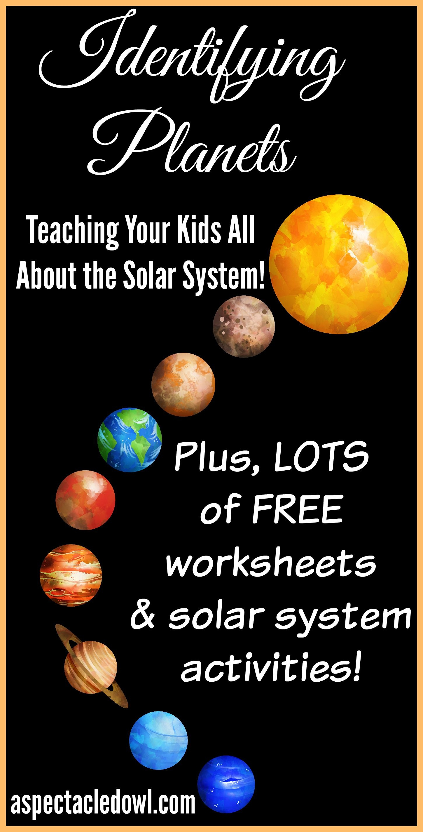 Identifying Planets: Teaching Your Kids Solar System Facts - Solar System Charts Free Printable