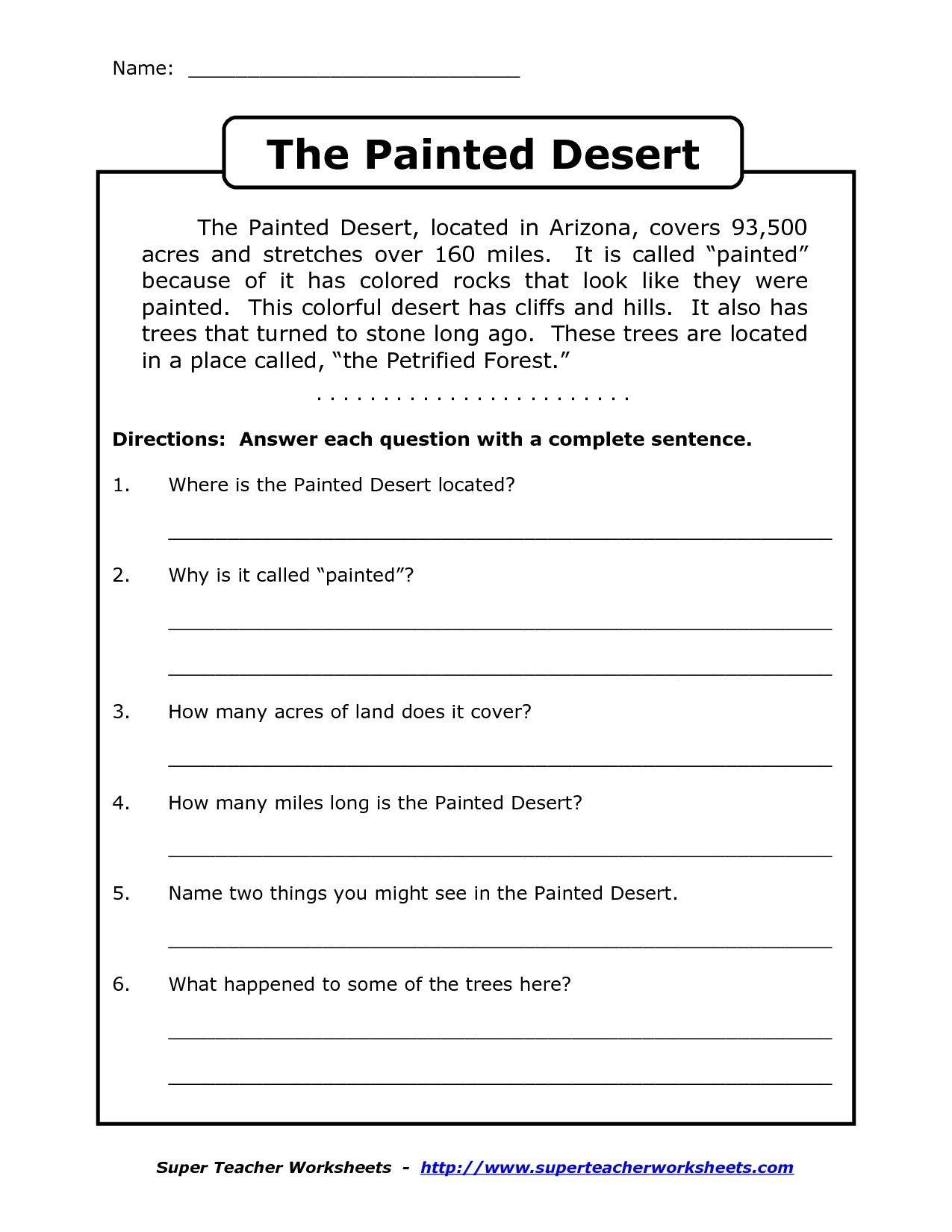 Image Result For Free Printable Worksheets For Grade 4 Comprehension - Free Printable 4Th Grade Reading Worksheets