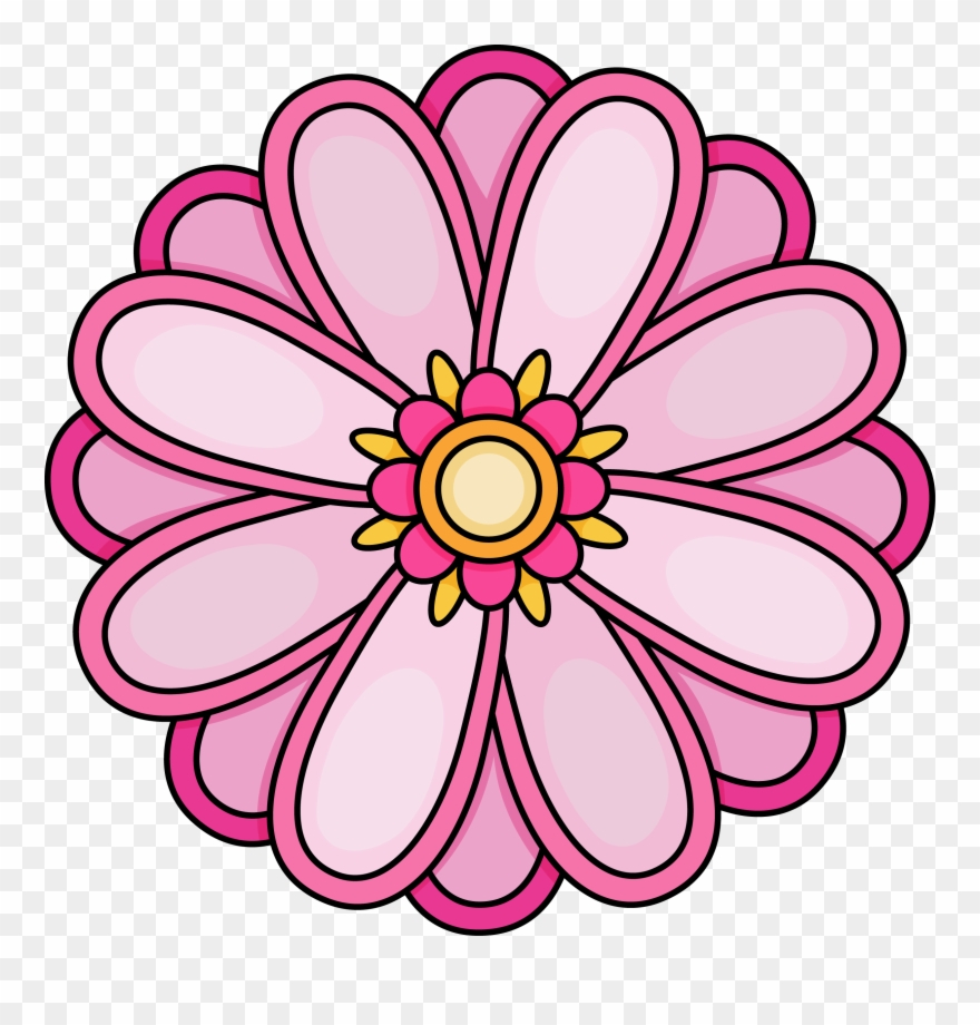 Imagination Pictures Of Flowers To Color Free Printables - Flower - Free Printable Clip Art Flowers