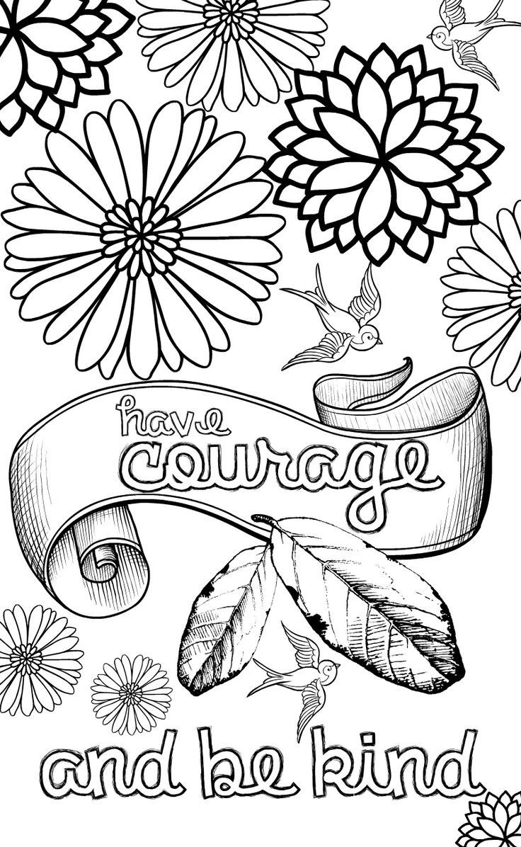 Inspirational Coloring Pages To Download And Print For Free | Adult - Free Printable Inspirational Coloring Pages