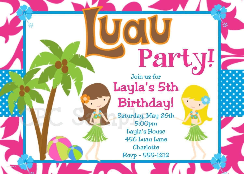 Inspirational Pool Birthday Party Invitations Templates Free - Hawaiian Party Invitations Free Printable