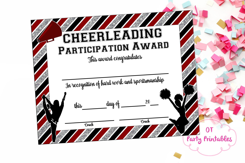 Instant Download Cheerleading Certificate Cheerleading | Etsy - Free Printable Cheerleading Certificates