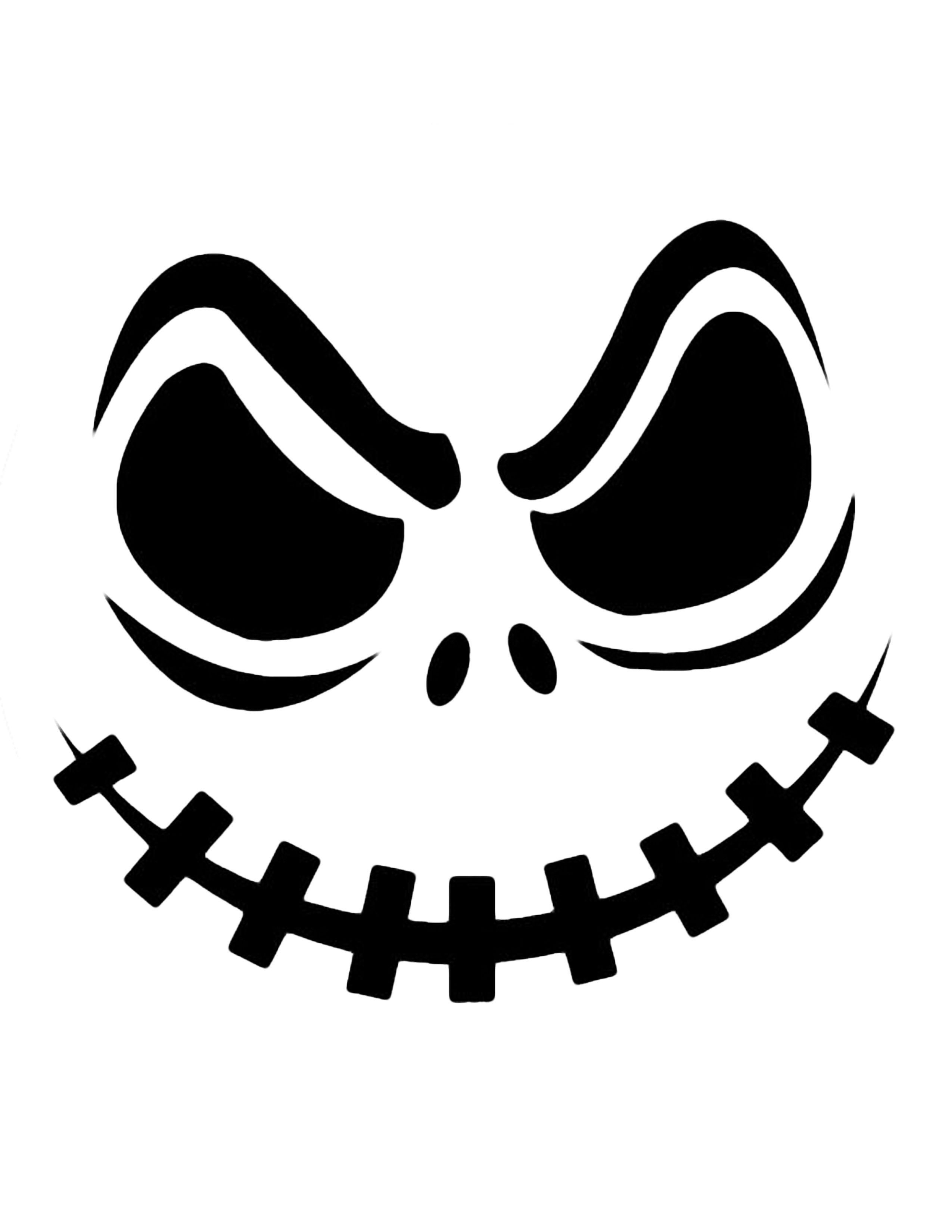 Jack Skellington Pumpkin | Cricut Cutter Ideas | Halloween Pumpkin - Jack Skellington Stencil Free Printable