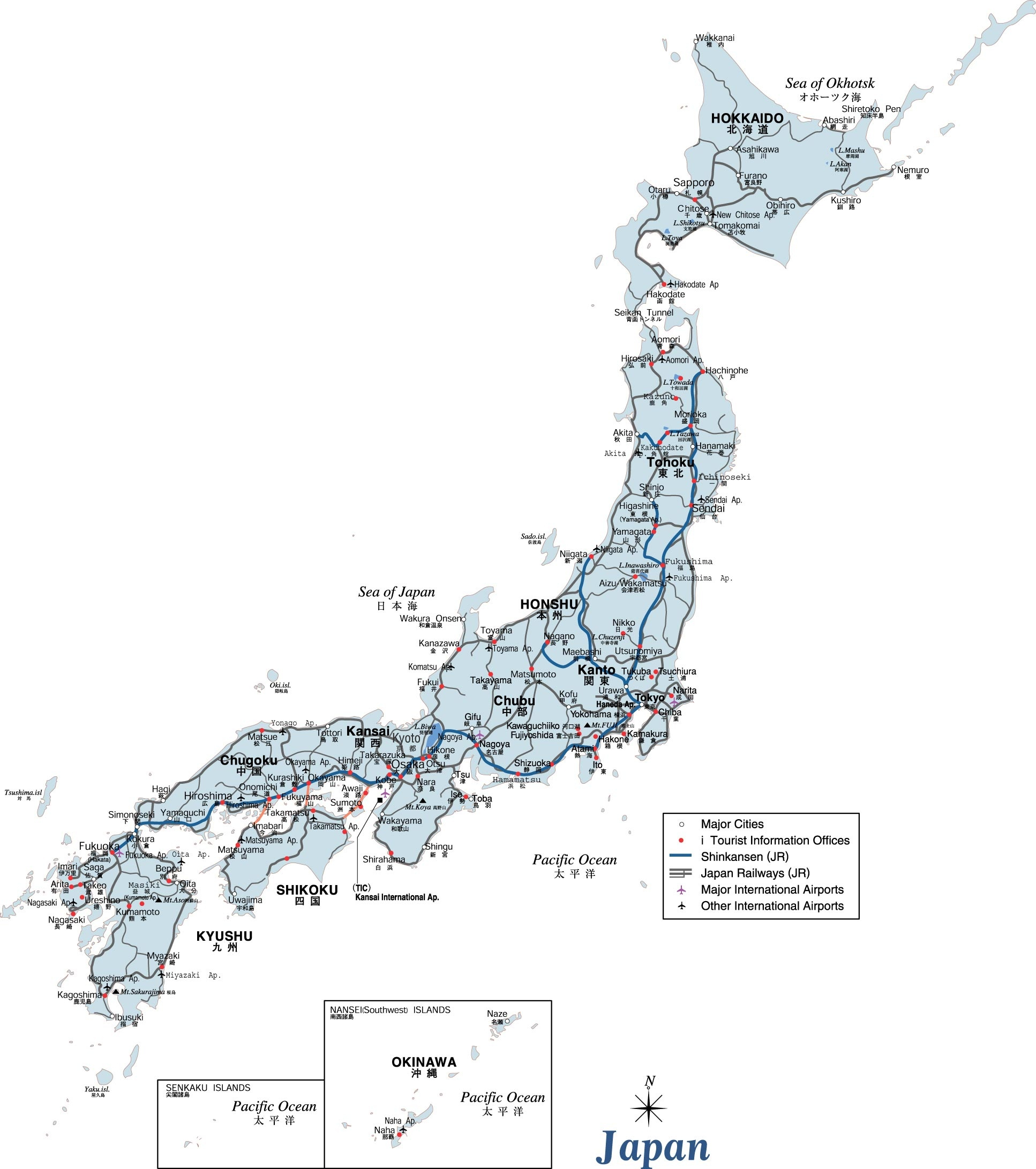 Japan Maps | Printable Maps Of Japan For Download - Free Printable Map Of Japan
