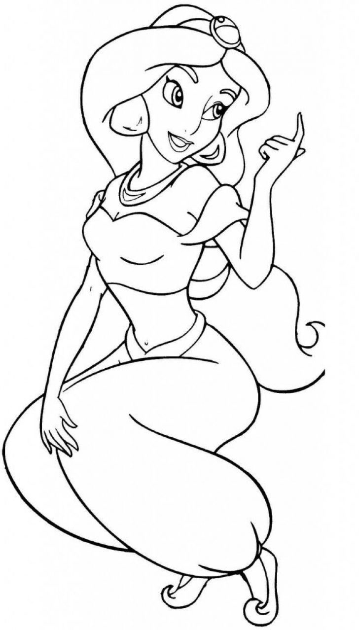 Jasmine Coloring Pages   Www.universoorganico - Free Printable Princess Jasmine Coloring Pages