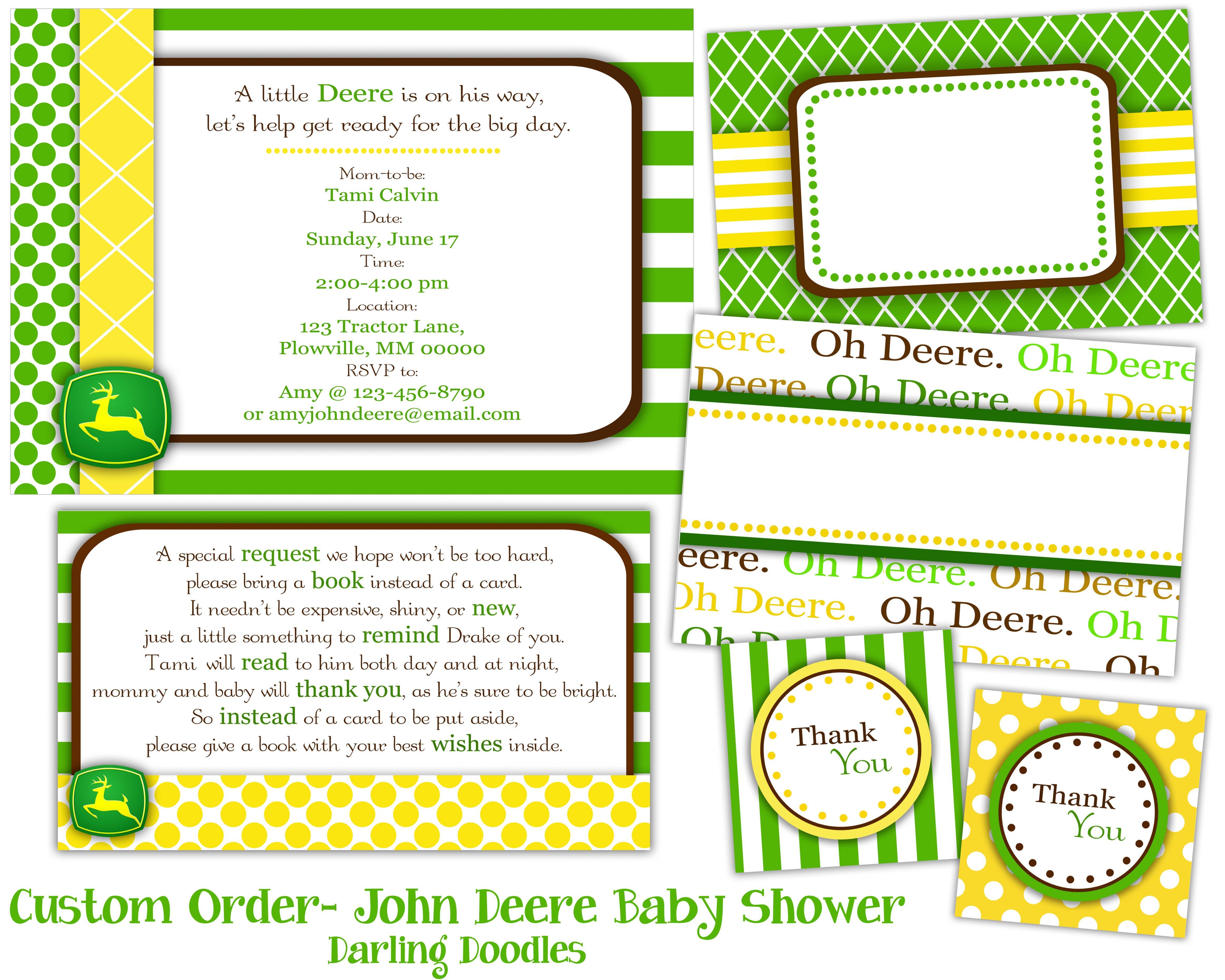 John Deere Baby Shower Ideas John Deere Baby Showerjohn Deere Gift - Free Printable John Deere Baby Shower Invitations