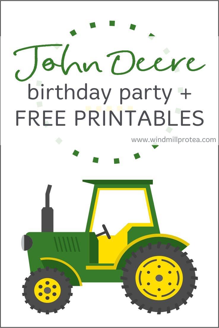 John Deere Birthday Party | Kids Parties | Windmill & Protea - Free Printable John Deere Birthday Invitations