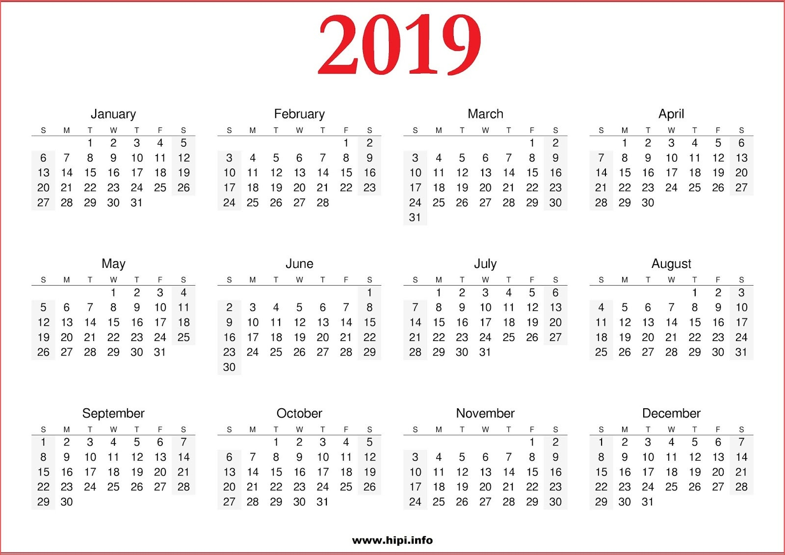 June 2019 Blank Calendar Template Free Printable Blank Calendar 2019 - Free Printable Facebook Template