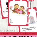 Jungle Love Animal Themed Printable Valentine Cards For Kids   Free Printable Valentines Day Cards Kids