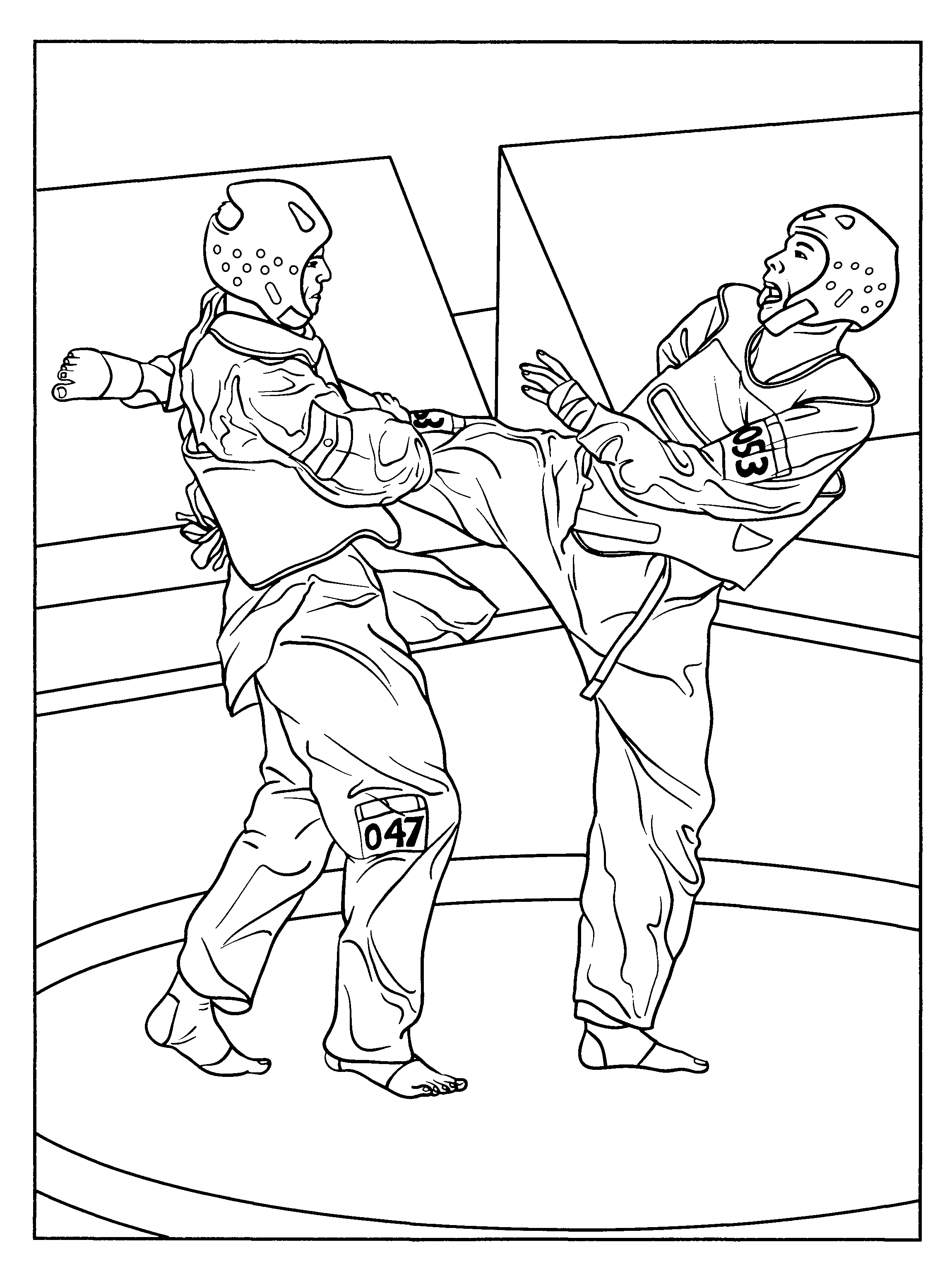 Karate Coloring Pages For Kids | Coloring Pages | Karate School - Free Printable Karate Coloring Pages