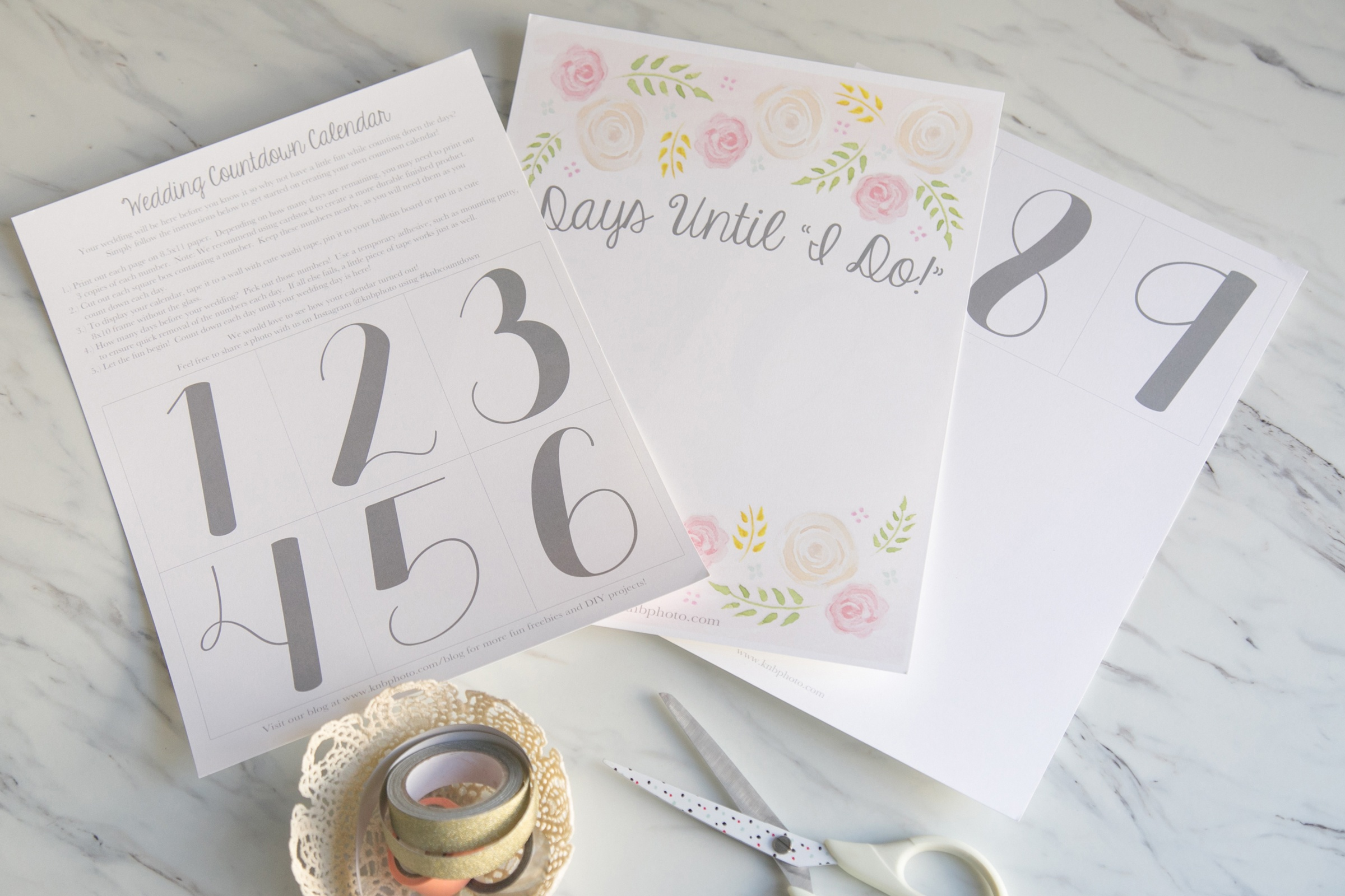 K+B Photography | Our Blog | Freebies: A Printable Wedding Countdown - Free Printable Wedding Countdown