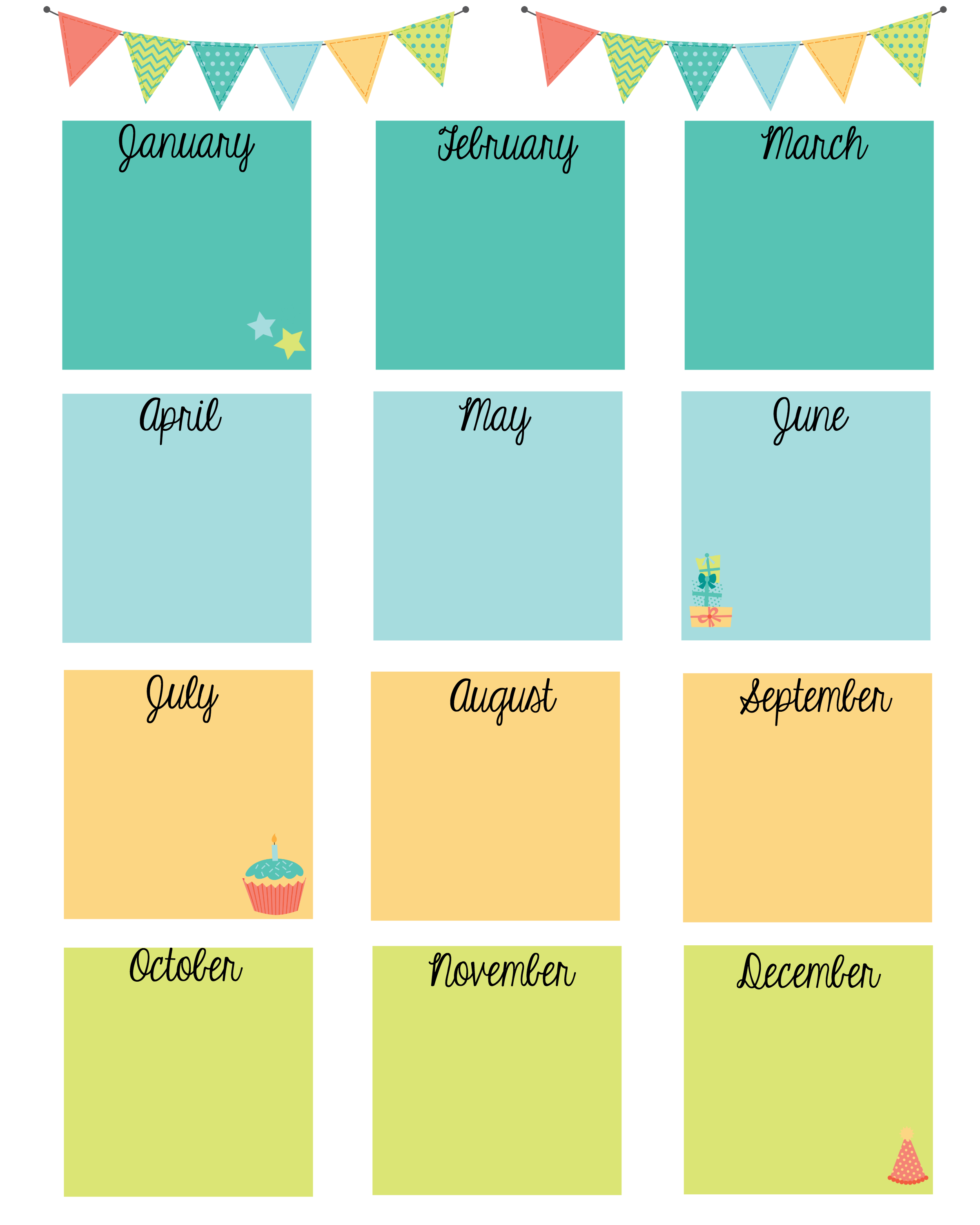 Keep In Touch With Friends With A Birthday Calendar | Calendars - Free Printable Birthday Graph