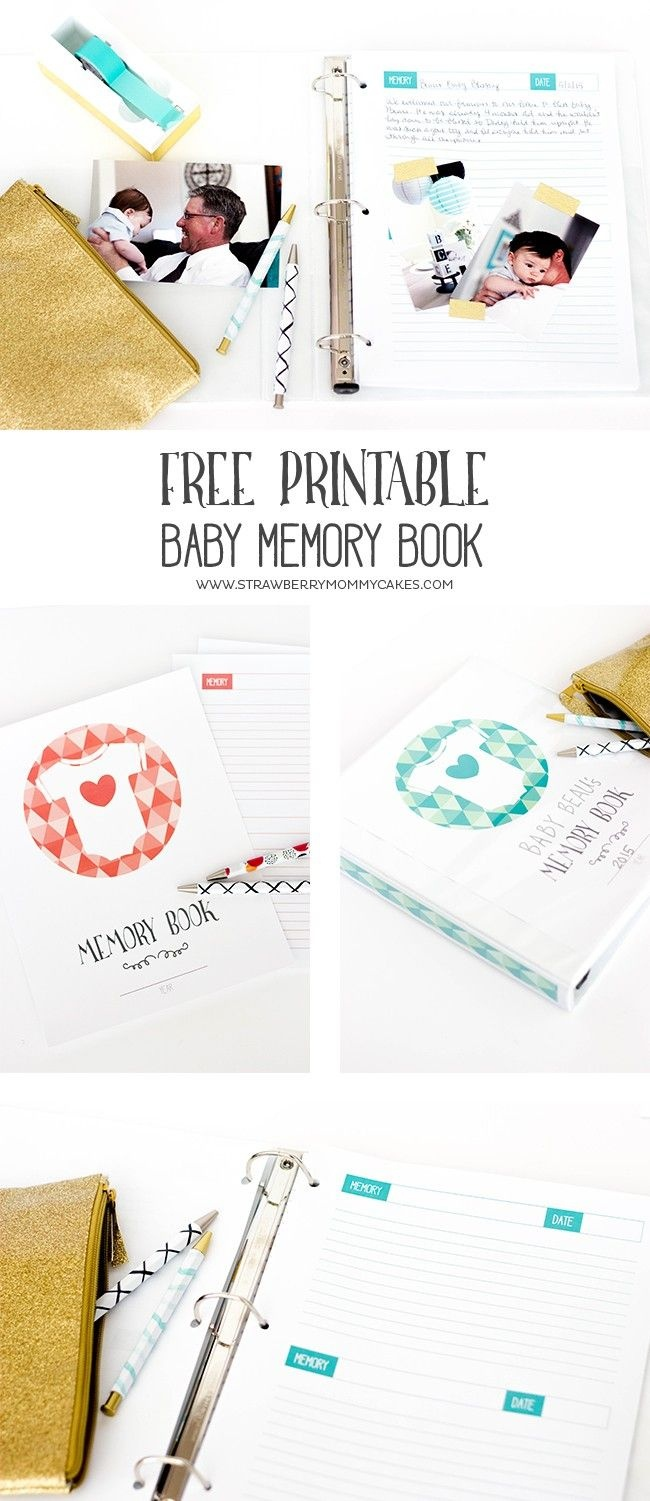 Keep Track Of All Those Memories From The First Year With This - Free Printable Baby Memory Book