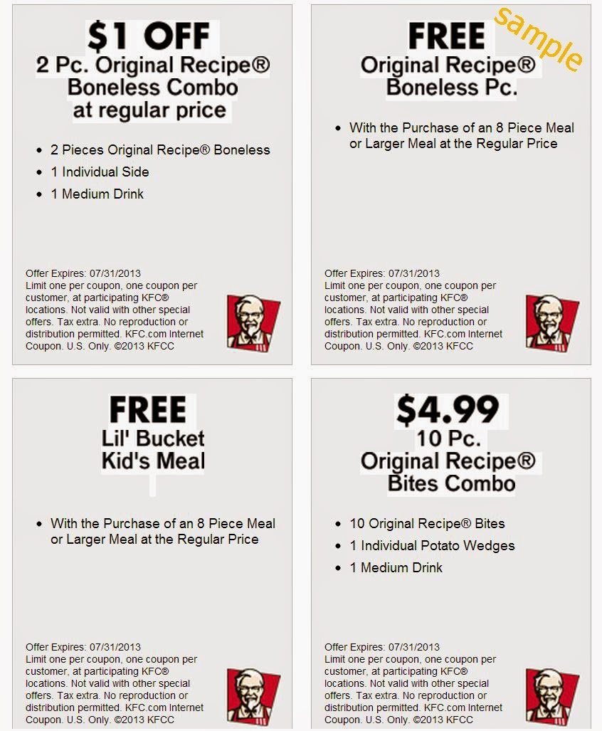 Kfc Canada Printable Coupons November 2018 / Wcco Dining Out Deals - Free Printable Coupons 2014