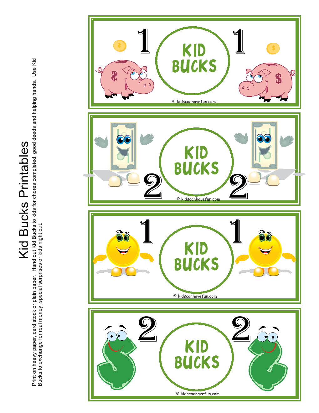 "Kid Bucks | Home ""behavior Banking"" 
