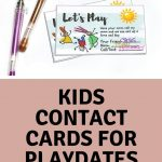 Kids Play Date / Keep In Touch Cards |Melanie @ The Story Of   Play Date Invitations Free Printable