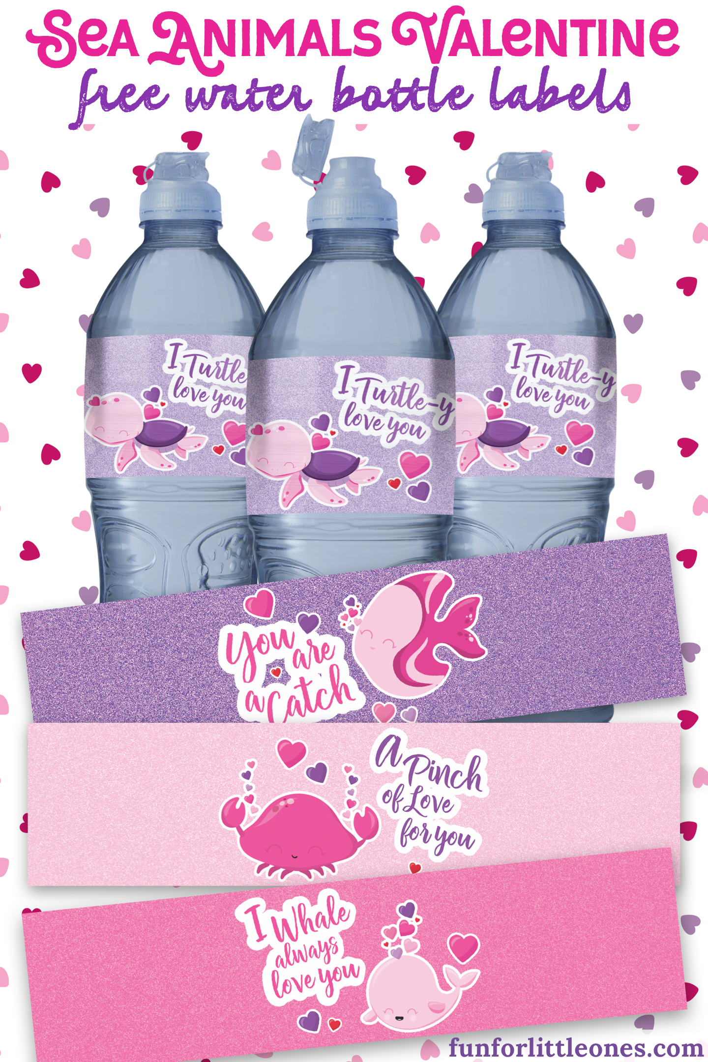 Kids Valentine Water Bottle Labels (Free Printable) - Fun For Little - Free Printable Water Bottle Labels
