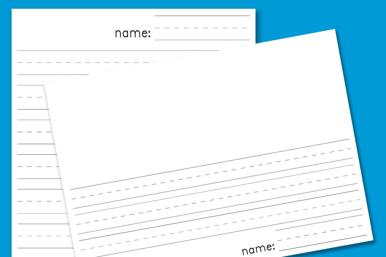 Kindergarten Lined Paper - Download Free Printable Paper Templates - Free Printable Notebook Paper