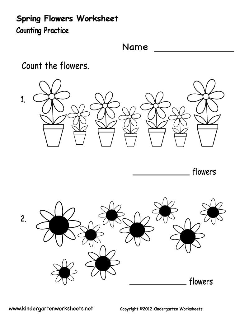 Kindergarten Spring Flowers Worksheet Printable   Future Classroom - Free Printable Spring Worksheets For Kindergarten
