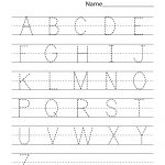 Kindergarten Worksheets Pdf Free Download Handwriting | Learning   Free Printable Alphabet Worksheets For Kindergarten