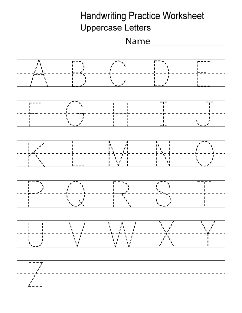Kindergarten Worksheets Pdf Free Download Handwriting | Learning - Free Printable Alphabet Worksheets For Kindergarten
