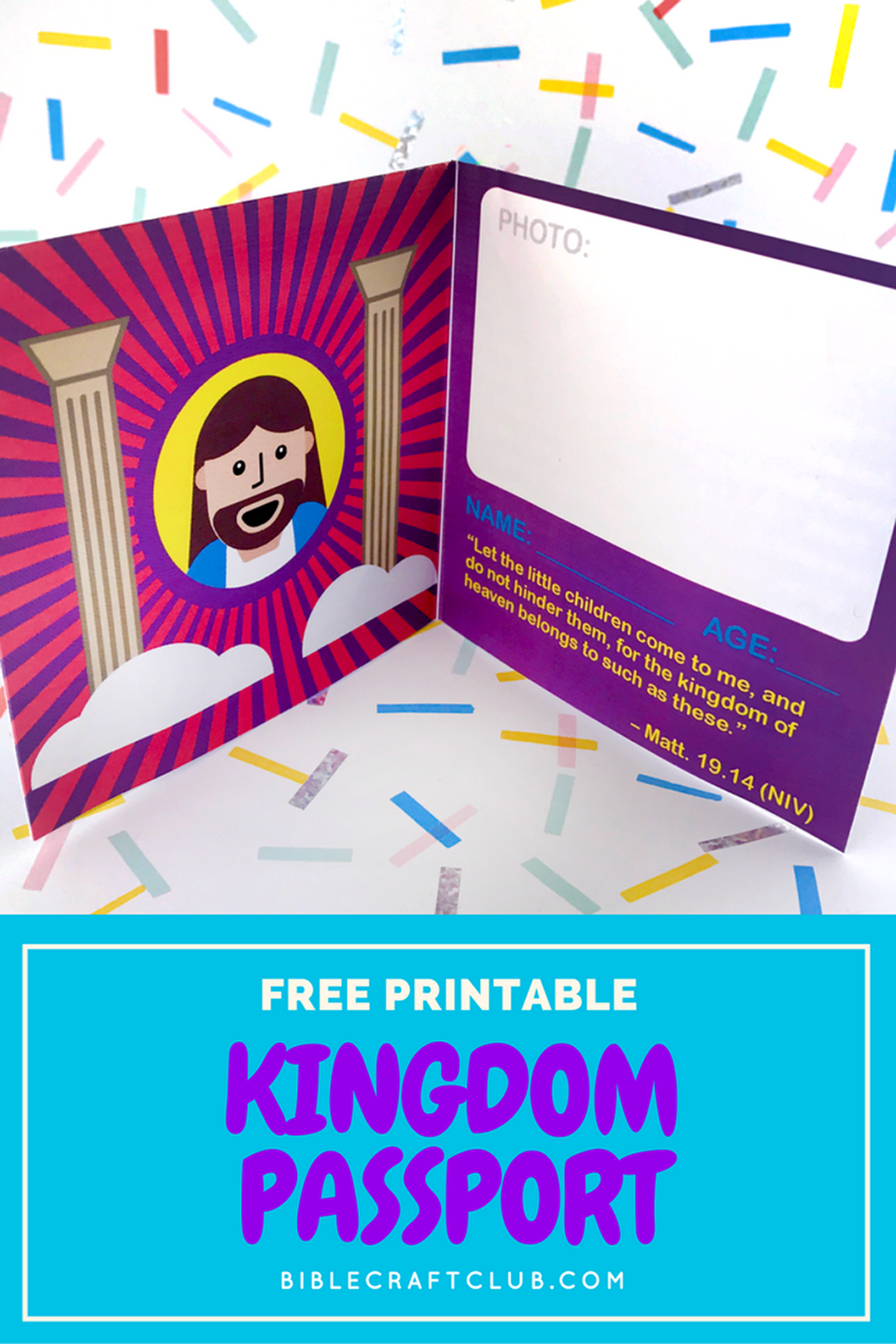 Kingdom Passport Craft | Biblecraftclub | Bible Crafts - Free Printable Bible Crafts