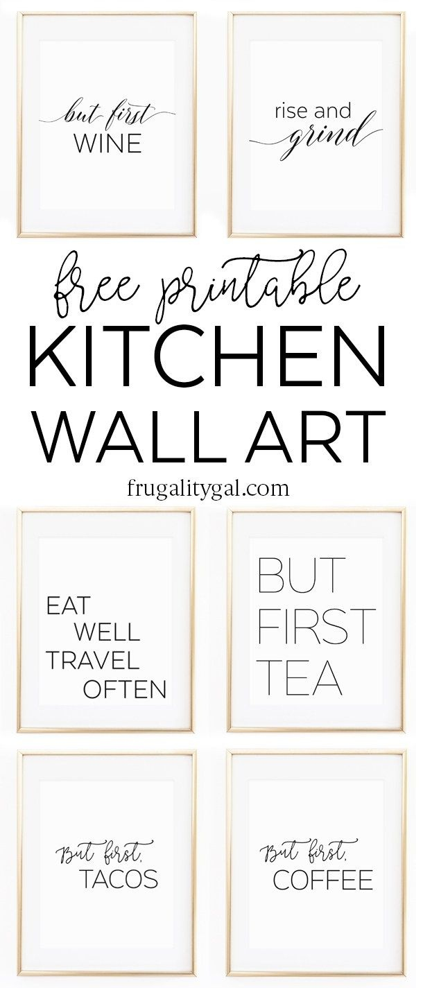 Kitchen Gallery Wall Printables | Free Printable Wall Art - Free Printable Wall Posters