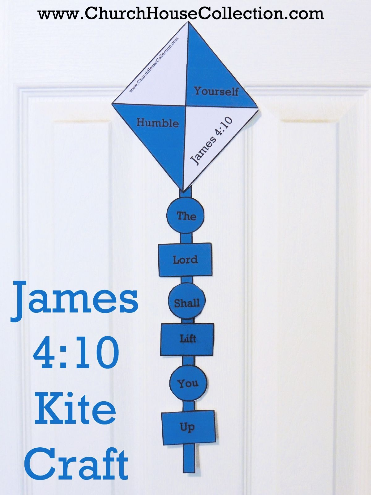 Kite Cutout Craft For Sunday School Kids James 4:10- Free Printable - Free Printable Sunday School Crafts