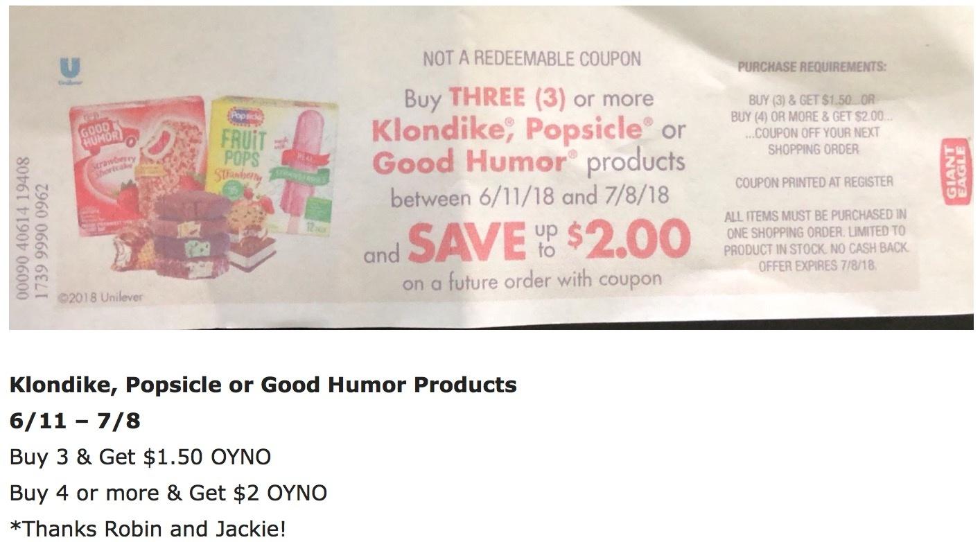Klondike® Coupons (Free) - Klondike Bar Coupons - Free Printable Giant Eagle Coupons