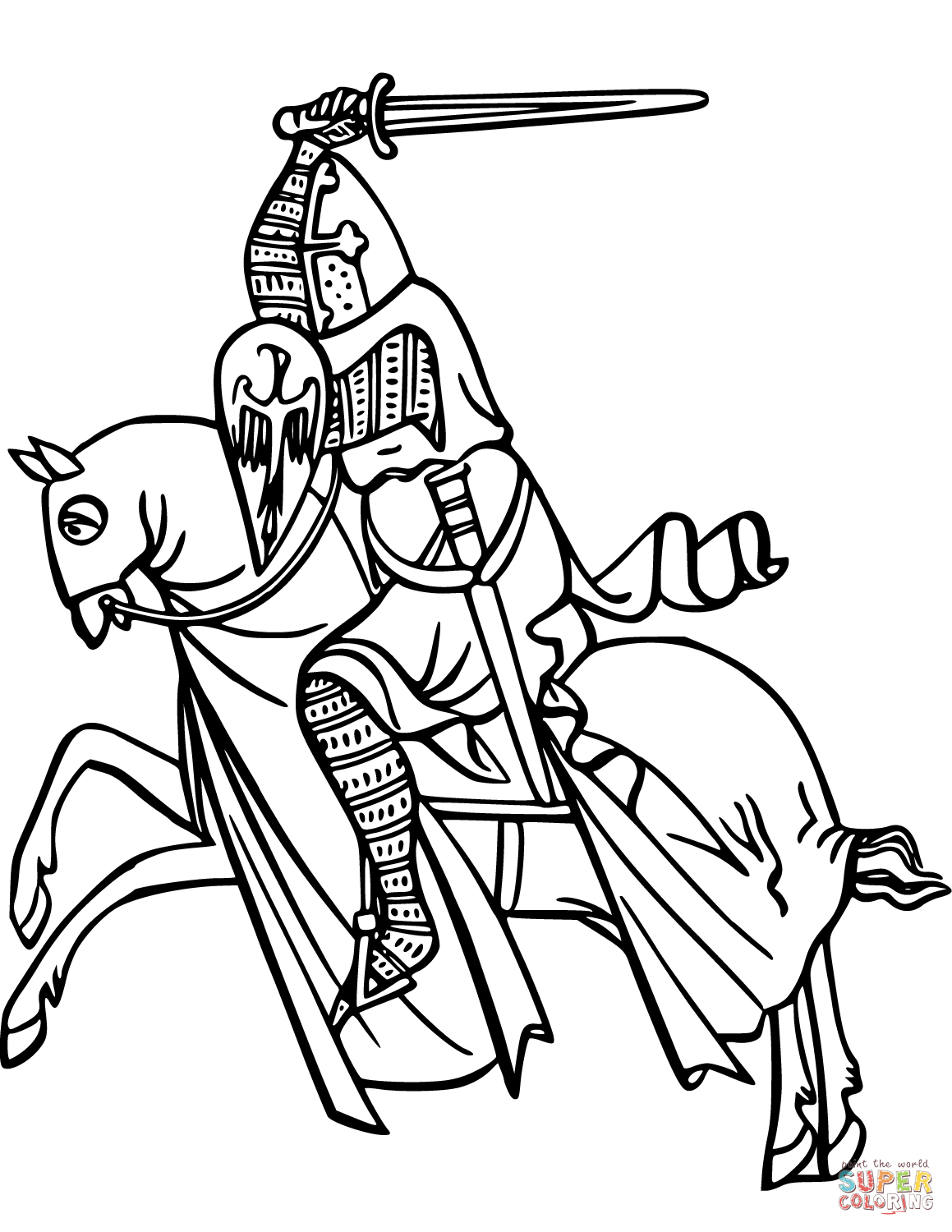 Knights Coloring Pages   Free Coloring Pages - Free Printable Pictures Of Knights