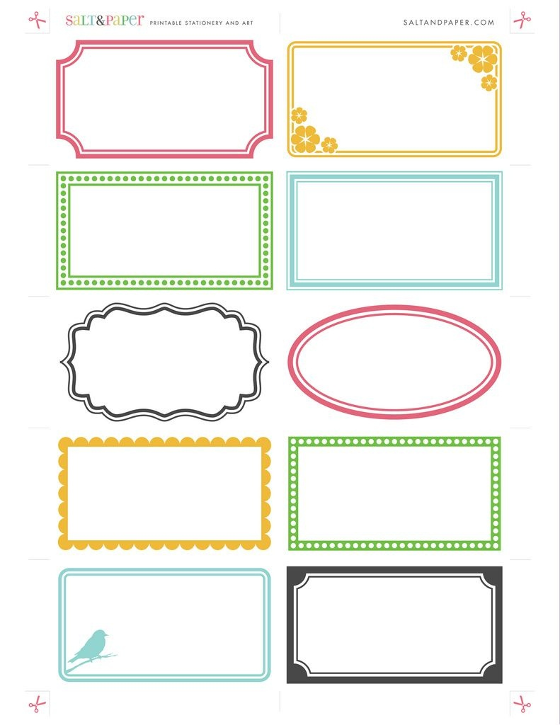 Labels - Free Printable For Diy Crafting. Paper Craft, Organizing - Free Editable Printable Labels