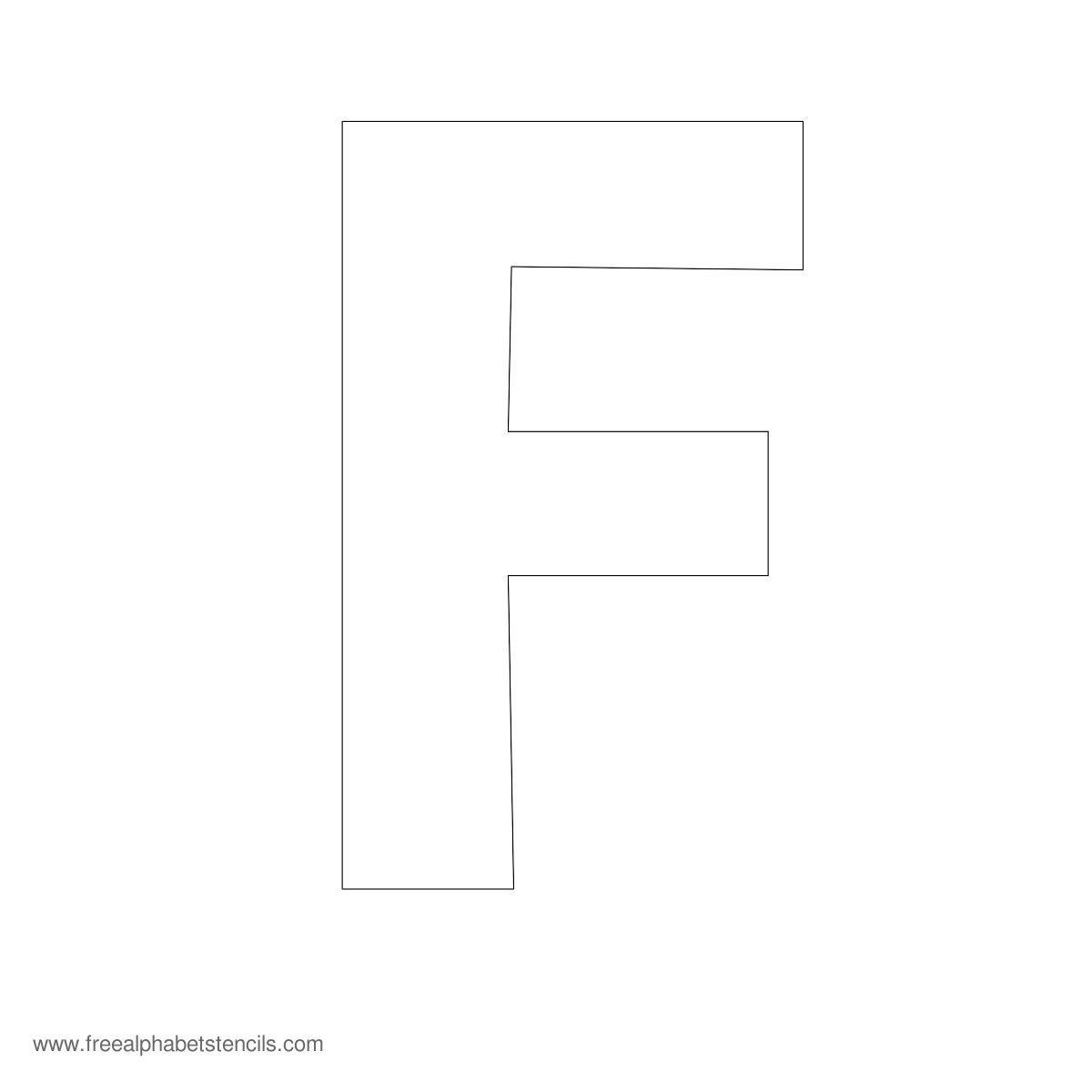 Large Alphabet Stencils   Freealphabetstencils - Free Printable 10 Inch Letter Stencils