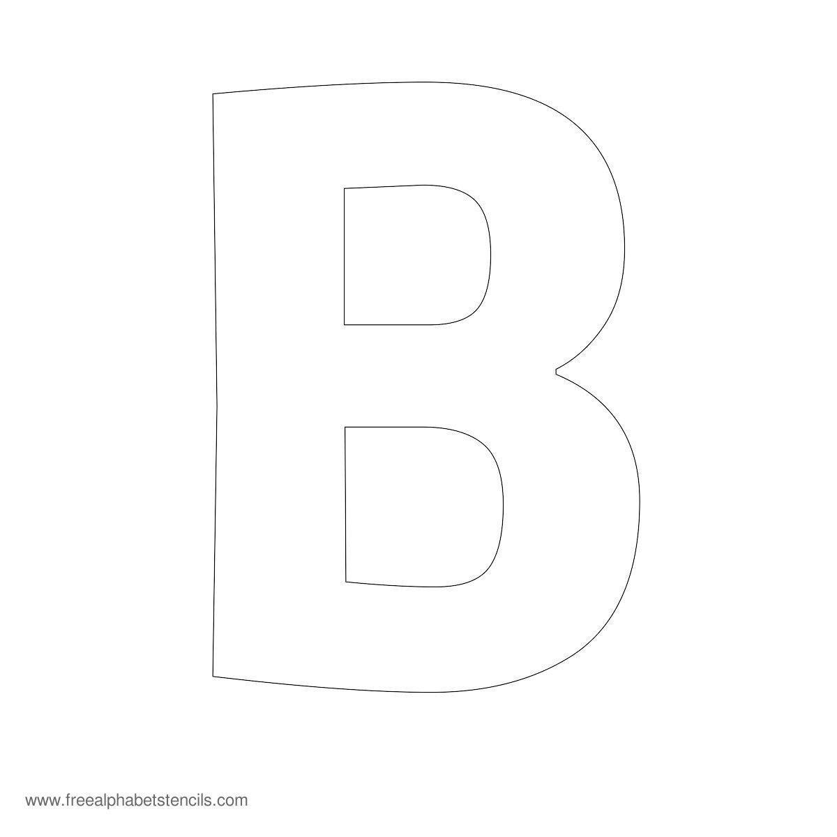 Large Alphabet Stencils | Freealphabetstencils - Free Printable Large Letters