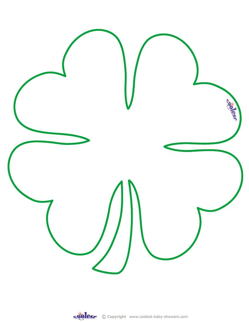 Large Printable Clover Coolest Free Printables …   Tattoo Canvas - Shamrock Template Free Printable