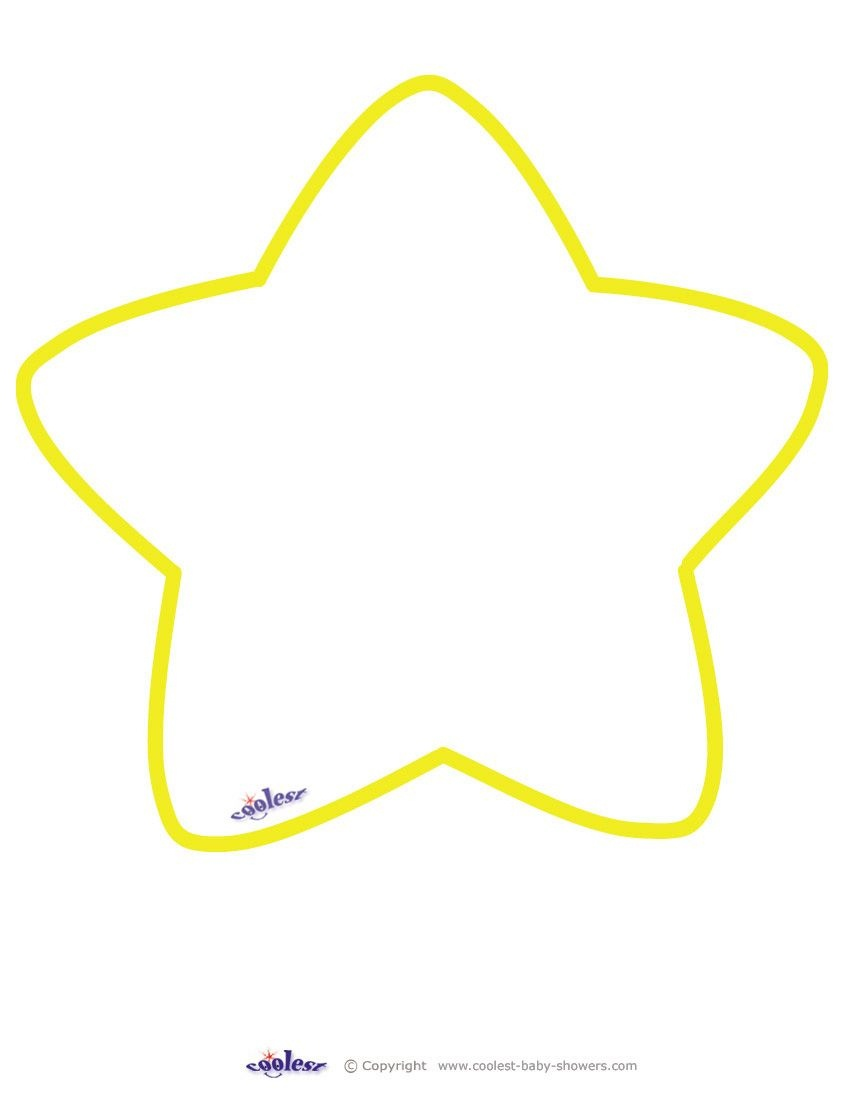 Large Printable Yellow Star Coolest Free Printables | Art | Star - Large Printable Shapes Free