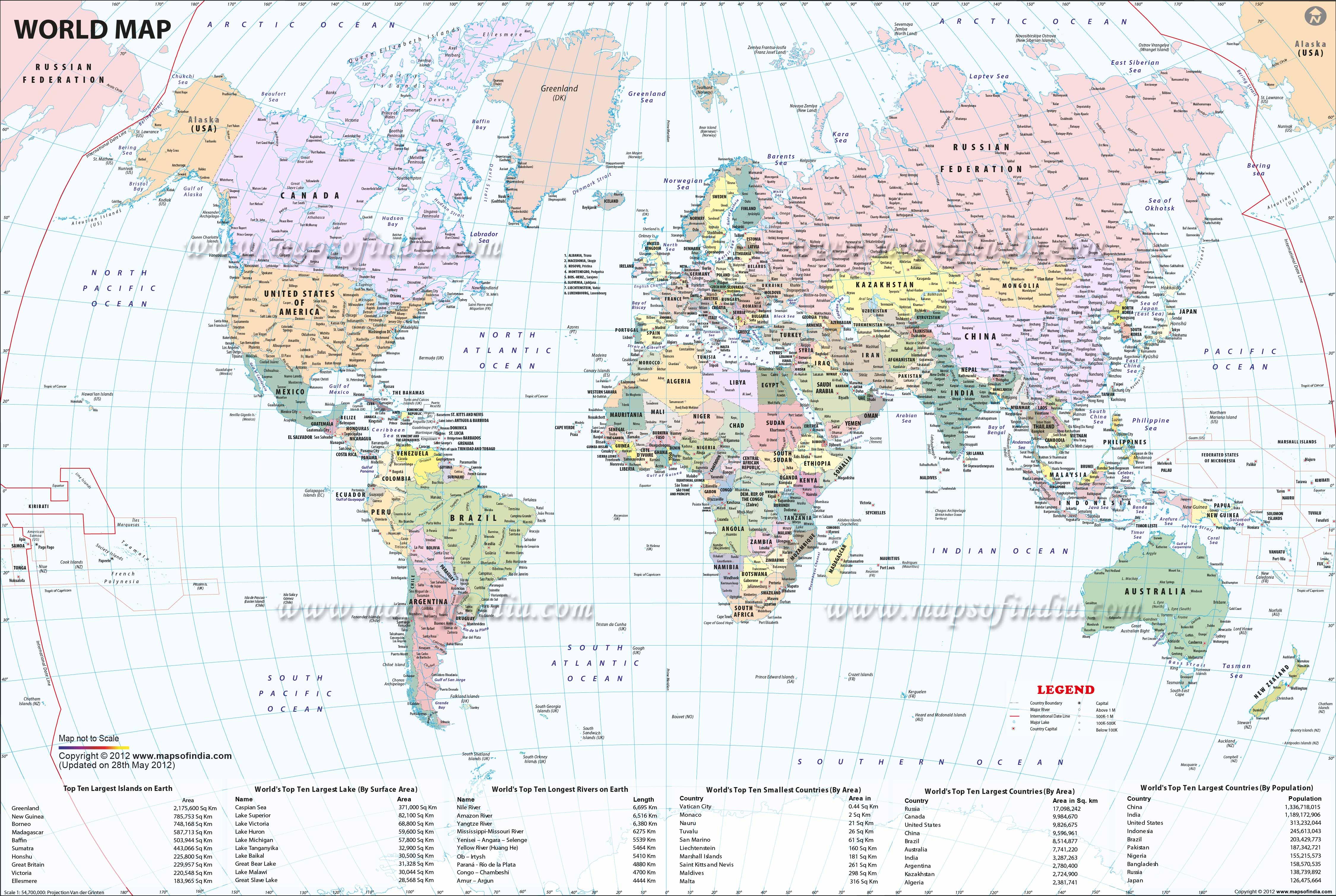 Large World Map Image - Free Printable Custom Maps