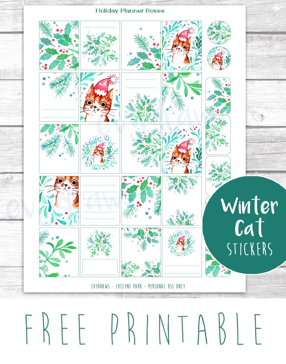 Last-Minute Diy: Free Printable Gift Tags, Stickers & Cards — Evydraws - Free Printable Personal Cards
